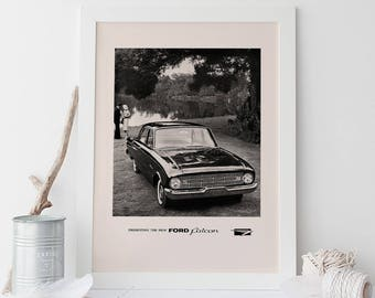 1960 FORD POSTER -  Ford Falcon Ad - Quality Reproduction, Garage Decor, Hot Wheels, Car Lover, Hot Rod, Muscle Car