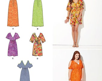 Simplicity 1375 Size XXS-XXL Plus Size Sewing Patterns Easy Facile Dress Pattern Sewing Patterns New