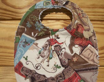 Baby Bib Cowboy Western Ready To Ship