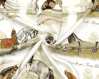 "HERMES SCARF Silk ""Les Robes"" by Philippe Ledoux Vintage 90cm Carre 100% Auth"