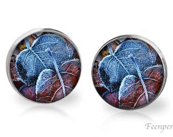 Stud Earrings Frosted 11