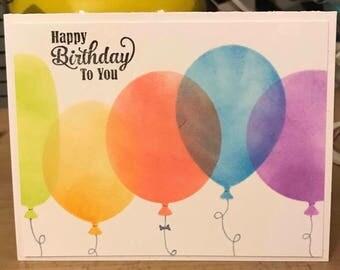 Rainbow Balloon Birthday Card