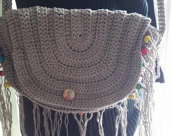 boho chic crochet bag