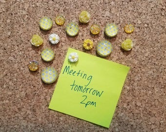Decorative Thumbtacks, Decorative Push Pins, 16 pcs Pushpins, Bulletin Board Tacks, Wedding Decor, Dorm, Office, Gifts, Housewarming Gift