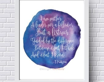 Words of Wisdom - Watercolor Print, Mindfulness, Meditation, Life is a Balance, Intuitive Living, Balance, Gift for Her
