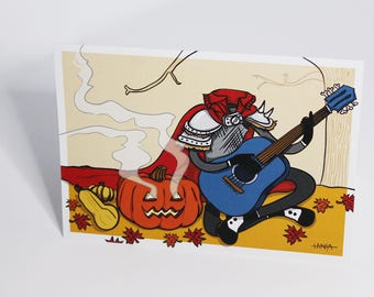 Card - Horseman without head (fall)
