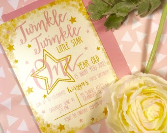 Twinkle, Twinkle Baby Shower Invitations