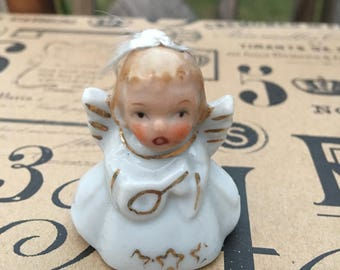 Vintage Angel Bell Christmas ornament, Japan