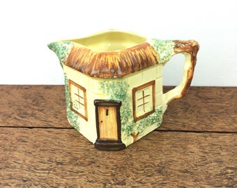 Vintage ceramic hand painted 'cottage ware' cream jug, made in England