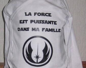 Bodysuit baby star wars the force jedi geek sfcience fiction sf