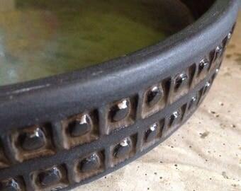 Scandinavian Modern Low Bowl Ulla Winblad Bowl Alingsas Keramik Low Bowl Mid Century Modern Bowl Sgrafitto Stoneware Bowl Sgrafitto Bowl