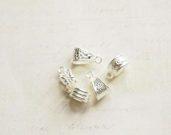 5 bails in silver shiny 12-15 x 6-9mm
