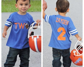 Football birthday shirt, boys birthday shirt,  football shirt, football birthday party, football party, 2nd birthday shirt, second birthday