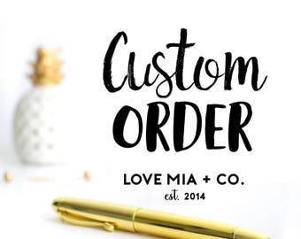 CUSTOM ORDER | Custom Hair Tie Favors Designed by Love Mia + Co.