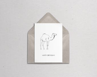 Customisable Camel Greetings Card