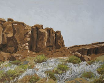Chaco Canyon Painting 12x9