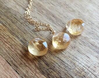 Citrine Necklace - Citrine Jewelry - Citrine Gemstone Necklace  - Citrine - Stone Necklace - November Birthstone - Dainty Necklace