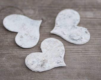 7cm Birch Hearts Wedding Decor Rustic Large Bark Heart DIY Decorations Craft