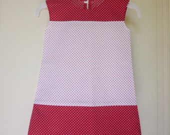 Kids red and white polka dot dress size 2 years