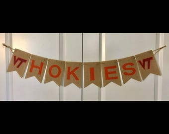 Virginia Tech banner~Go Hokies~football banner~graduation banner