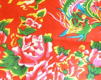 fabric 3 m Peony Chinese traditional red
