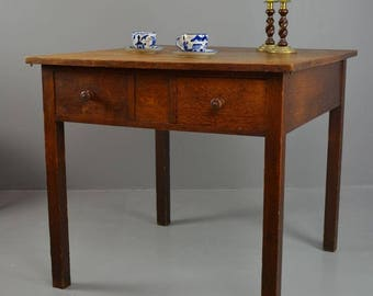 Square Oak Table After Ambrose Heal