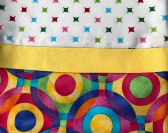 Pillowcase - Psychedelic Colorful Circles
