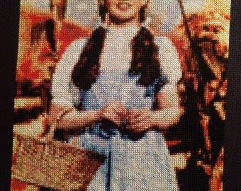 Wizard of Oz Dorothy Cross Stitch Portrait