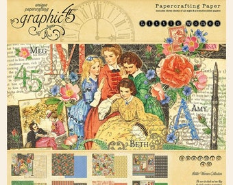 NEW!!! Graphic 45 Little Women 8x8 Paper Pad SC007761