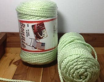 Mint Green Macrame Cord, 6 mm Bonnie Craft Cord, braided, discontinued color, 100 yards
