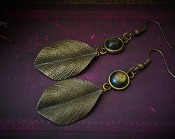 Queen of the Dryads * bronze Labradorite earrings