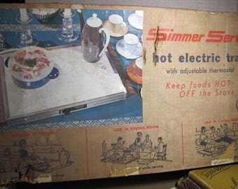 Vintage Simmer Server Hot Electric Tray