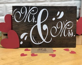 Mr and Mrs Wood Sign | His Wedding Gift | Rustic Wood Sign | Wedding Sign | Wedding Gift | Rustic Wedding | Wedding Decor