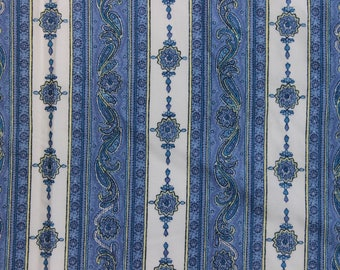 Coupon printed Pinstripe style Provencal 1.50 m x 140 cm