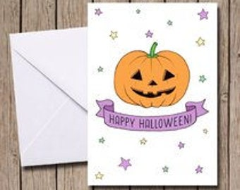Happy Halloween A6 greetings card