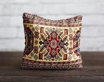 Persian Carpet Pillow Morocco PillowCase Geometric Cushion Case Persian Rug Portugal Pillow Living Room Luxury Home Decor Throw Pillow Cover