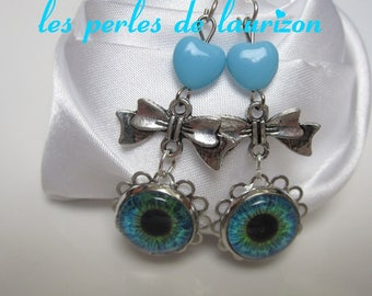 charming blue earrings