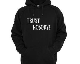 Men's Trust Nobody Hoody - Jumper - Sweater - 2Pac Tupac - Music Hoodie - Unisex