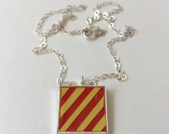 "Nautical Flag Alphabet Pendant ""Y"""
