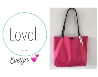 For Evelyn- Pink Large Tote Bag