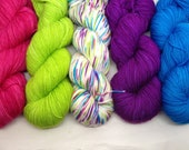 Let Them Eat Cake Gradient Set - Hand Dyed Fingering weight Yarn  - Bootheel (665 yards)