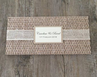 SAMPLE Rustic wedding invitation {Whispering Weave}