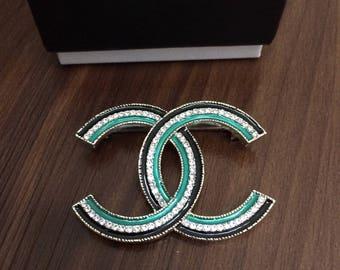 Chanel Logo Pin Brooch
