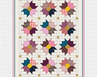 Fall Flowers Quilt Pattern