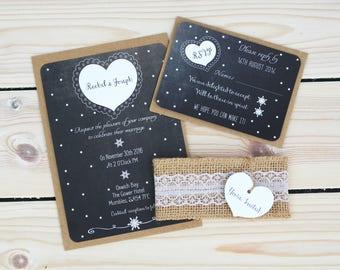 Rustic Wedding Invitation, Wedding Invitation, Winter Rustic Wedding Invitation, Wedding Invitations, Rustic Wedding Invitations