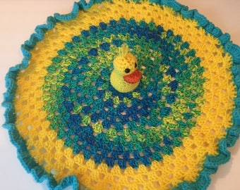 Ducky Blanket, Crochet Ducky , Duck , Lovey , Blanket, Toddler Blanket, Crochet Duck, Security Blanket