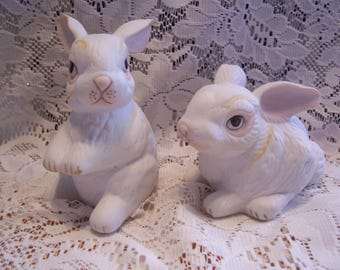 Royal Crown White Rabbit Figurines