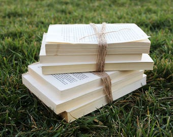 Set Of Books Wrapped In Twine