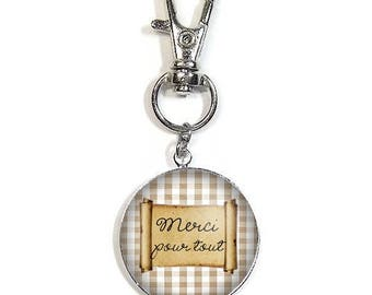 Keychain/bag charm with a cabochon 2.5 cm * please * (050617)