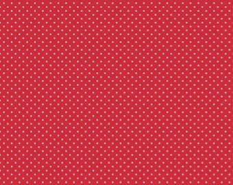 Riley Blake Red and White Swiss Dots - Cotton Quilting Fabric by the Yard - listing for 1 Yard - FMW